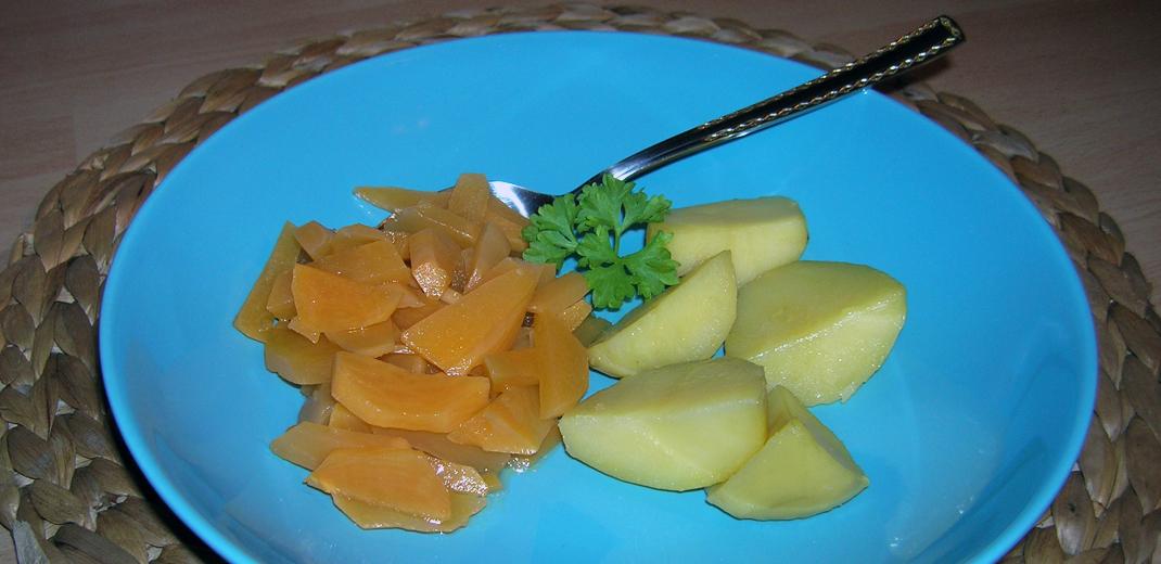 Butterrüben und Kartoffeln