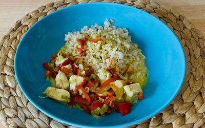 Hühnchencurry mit Reis